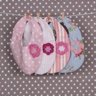 Beautiful handmade baby bibs