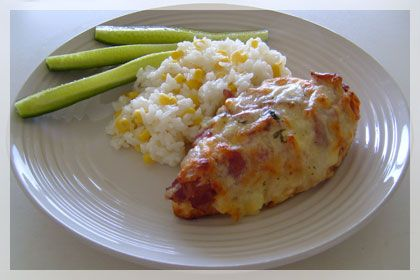 Bacon Cheese Topped Chicken Breasts