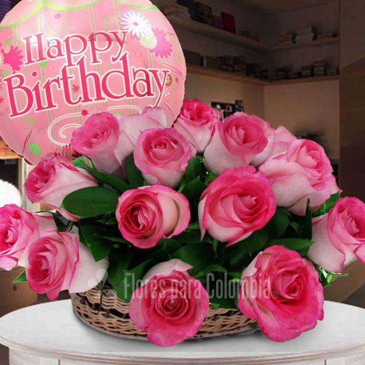 Feliz Cumpleaños Amiga Rosas