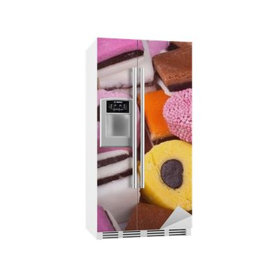 Assortment of Licorice Sweets Fridge Sticker ✓ Easy Installation ✓ 365 Day Money Back Guarantee ✓ Browse other patterns from this collection!