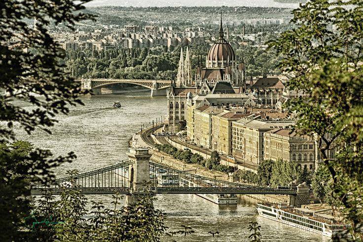 view - view from Gellért Hill , Budapest, Hungary