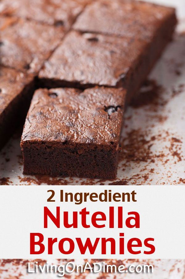 Easy 2 Ingredient Nutella Brownies Recipe - Super Simple 2 Ingredient Recipes