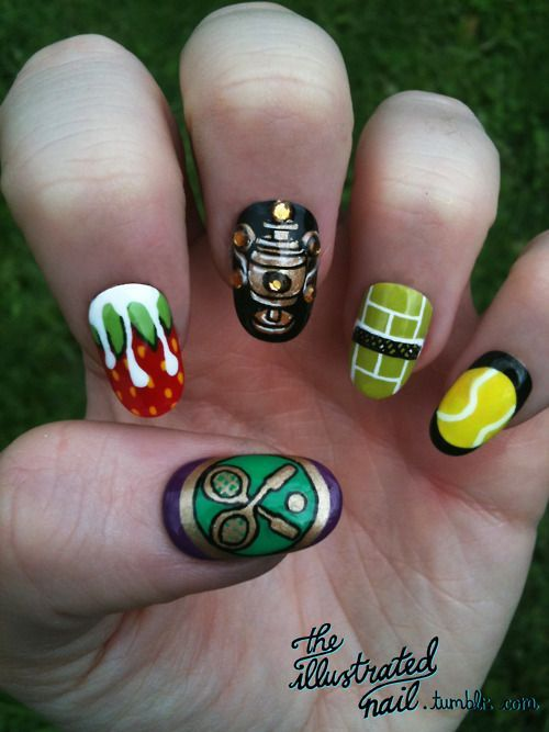 10 best tennis nails images on pinterest nail art nail designs inspiration on tennis nail art by ripps check out more nails on bellashoot prinsesfo Image collections