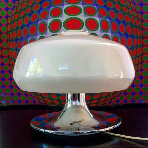 Vintage Mushroom Table Lamp By Miguel Milá For Tramo