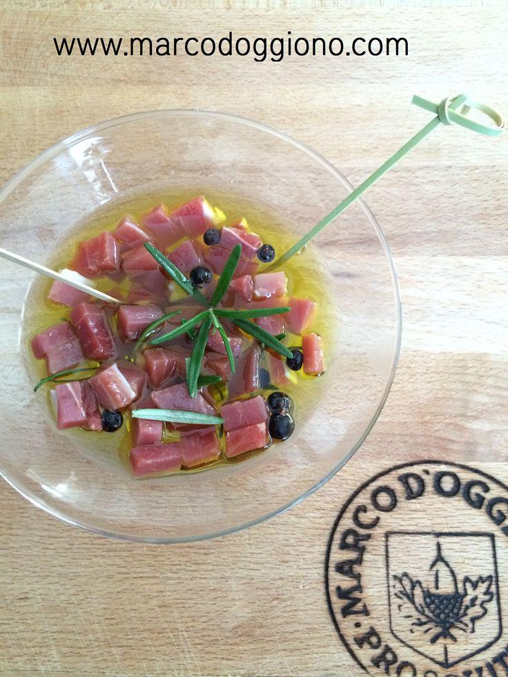 Dadini di prosciutto crudo Marco d'Oggiono in olio e rosmarino