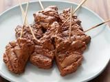 Picture of Garlic-Mustard Grilled Beef Skewers Recipe- Healthy Bobby Flay meals