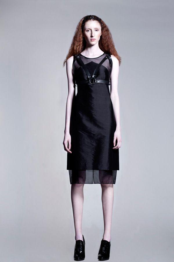 silk dress by AsiaWysoczyńska