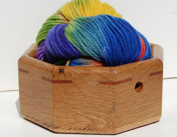 One of a kind handmade wooden yarn bowls! This bowl is octagonal shaped and has…