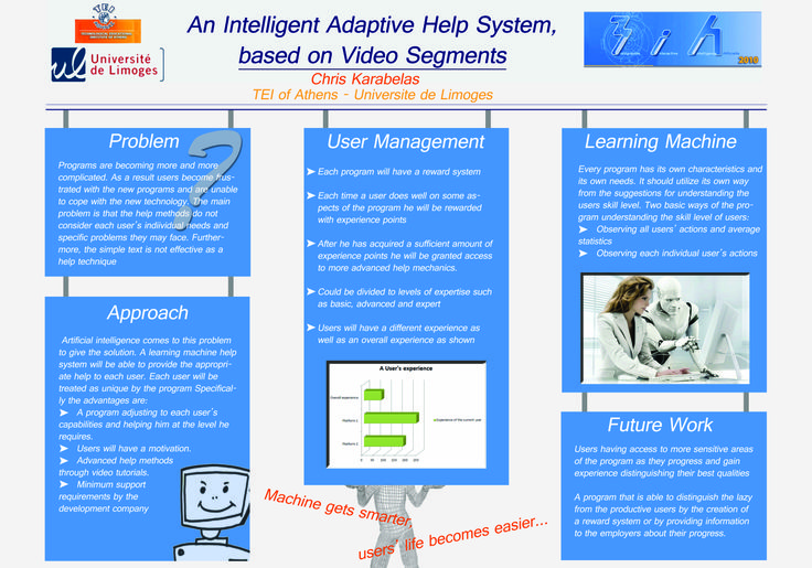#poster #master ISICG TIM Intelligent adaptive help system, based on Video segments