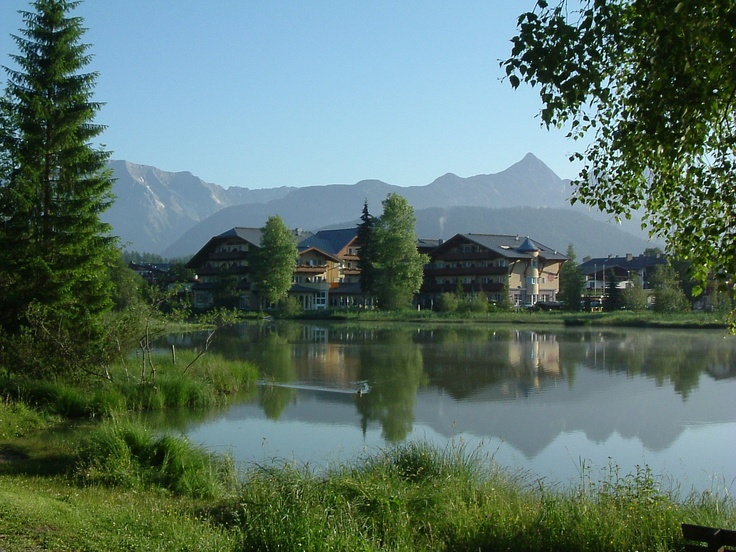 Seefeld in Tirol, the lake early in the morning - Austria