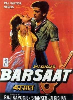 vintage bollywood barsaat poster