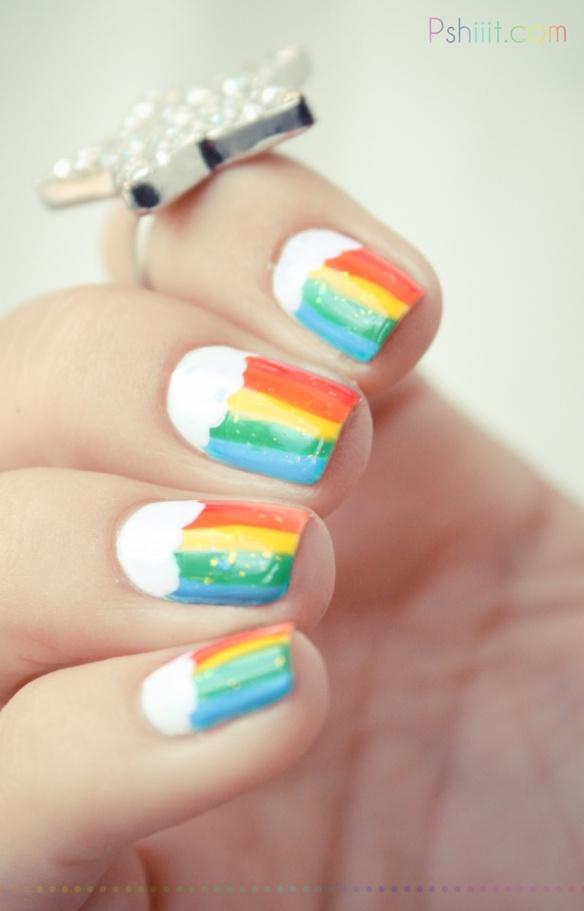 124 best rainbow nails images on pinterest nail polish nail rainbow nails solutioingenieria Choice Image