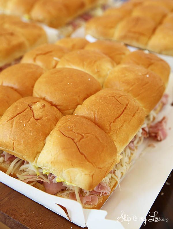 The best ham sandwiches ever! Use up leftover ham to make these little sliders everyone will love. Feeds a crowd and freeze well.