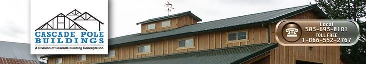 pole barn buildings and steel buildings services--Cascade