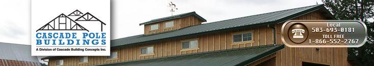 pole barn buildings and steel buildings services--Cascade