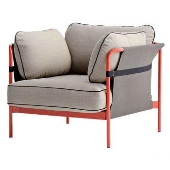 Hay's Can 1-seater, red-grey frame, Surface 420