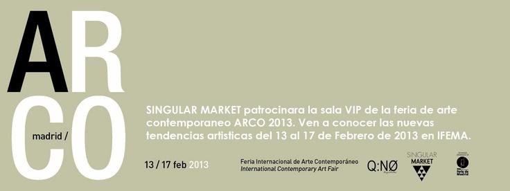 Singular Market en Sala VIP Feria de Arte Contemporaneo, ARCO 2013 !