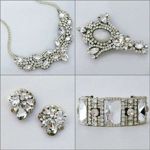 Old Hollywood Glamour Bridal Jewelry Accessories By Erin Cole