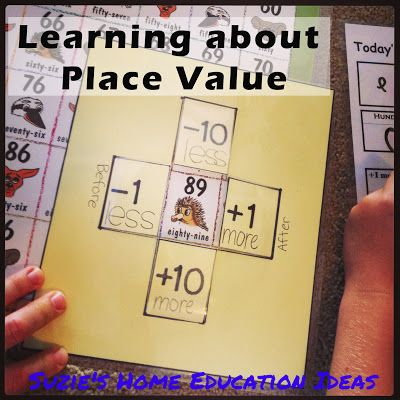 PRINTABLE - Today's number is....chart as well as other resource ideas on learning about place value - Suzies Home Education Ideas