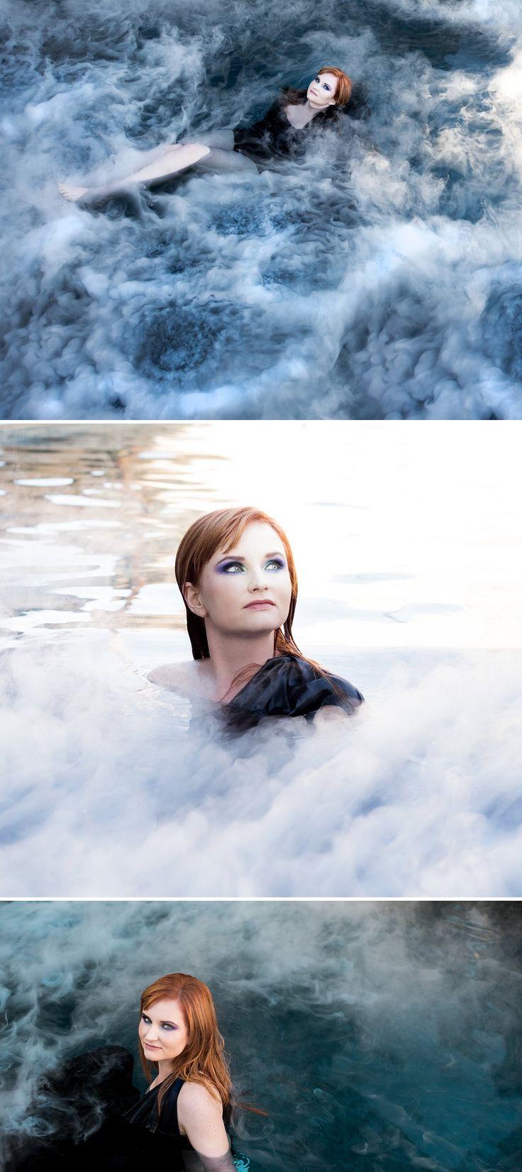 30th Birthday Universe inspired styled shoot | pool & liquid nitrogen galaxy images | Runaway Romance & Kiss Kiss photography