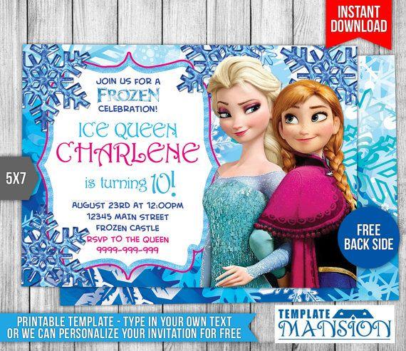 34 best Disney Princess Invitation Printables images on Pinterest - birthday invitations free download