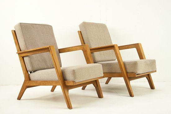 Set of Elmar Berkovich birch armchairs  #vintage #hedenverleden