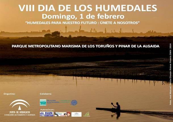 VIII Día Mundial de Los Humedales. Parque Metropolitano Marisma de Los Toruños y pinar de La Algaida. Bahía de Cádiz.