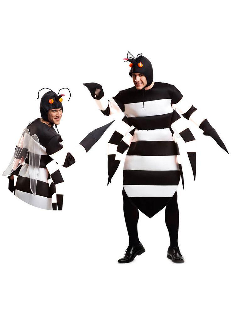 Disfraz de mosquito tigre para hombre y para mujer