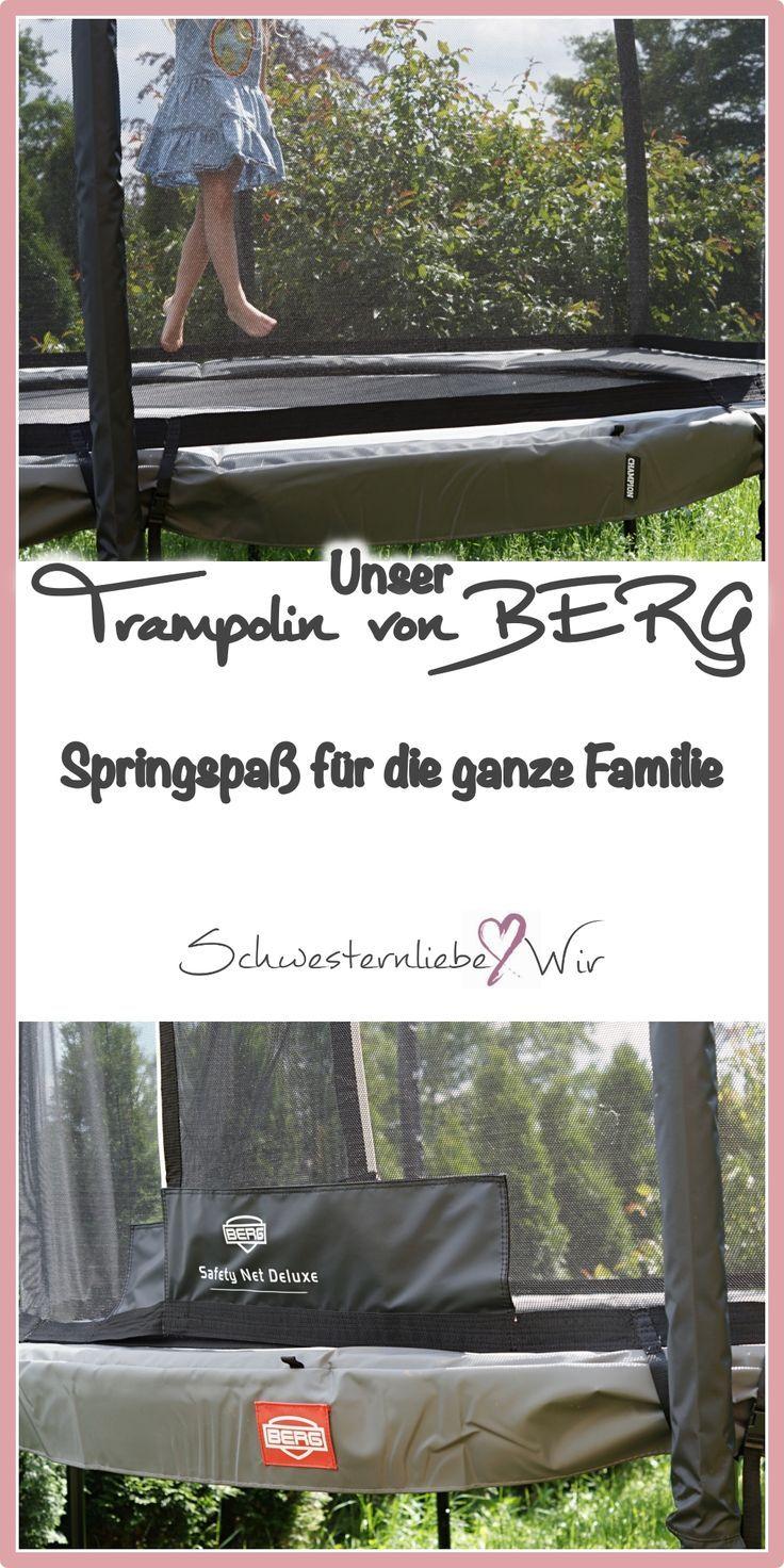Garten Unser Trampolin Von Berg Fur Kleine Sprung Kunstler Schwesternliebe Wir Trampolin Kinder Spass Berg Trampolin