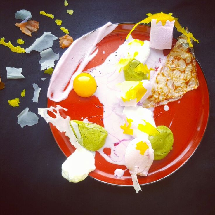 PLATE 4 Flying Island made by Piotr Pałyska  #plate #abstract #expressionism #gastronomy