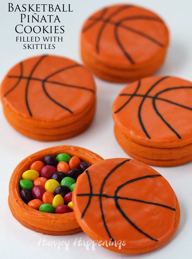 Hungry Happenings: Basketball Piñata Cookies filled with Skittles #CollectiveBias