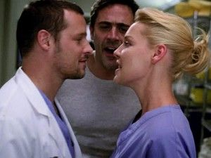 Alex and Izzie and Denny #GreysLoveTriangles denny in the background
