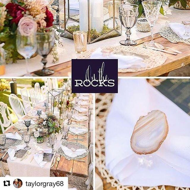 Did You Know That On The Rocks Went To Hollywood 30 Lucky Natural Napkin Rings Were Requested For A Styled Shoot California Wedding Day Magazine