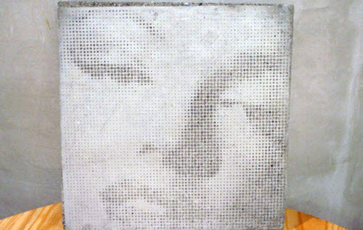 Photocrete is drawing technique on concrete face.