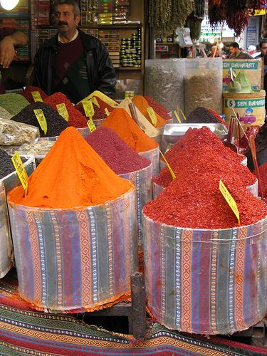 Colored spices Grand Bazaar, Istanbul