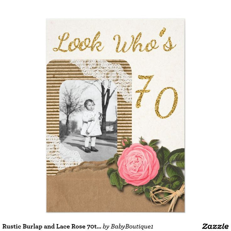 La arpillera rústica y el 70.o cumpleaños subió