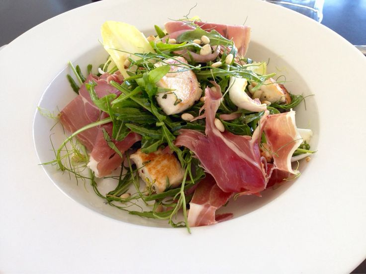 Marinated chicken salad with prosciutto, pine nuts and house lemon dressing. Another neighbourhood brunch special all this weekend.