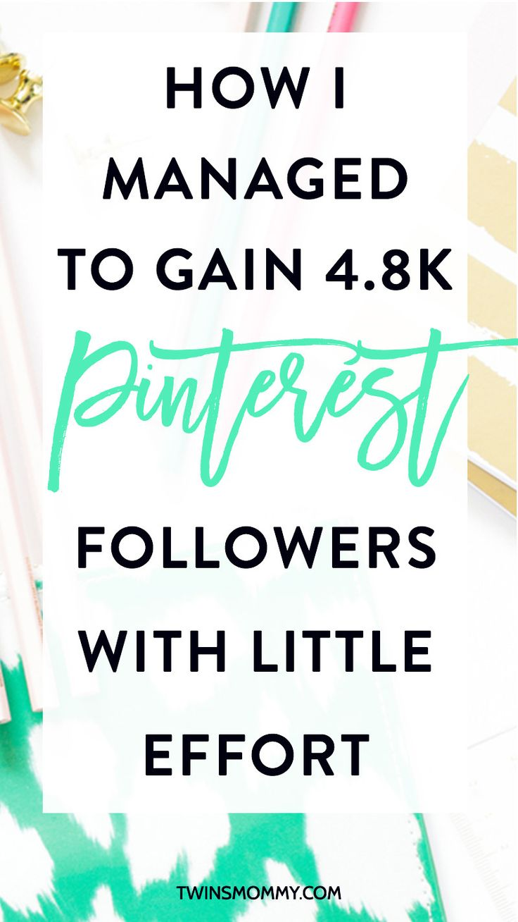 How I Managed to Gain 4.8k Pinterest Followers With Little Effort (With a New Blog) | Want to grow your Pinterest following? Here's how.