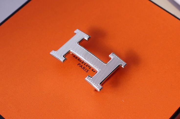 Hermes H 32mm Silver Dot Belt Buckle - Belt Buckles