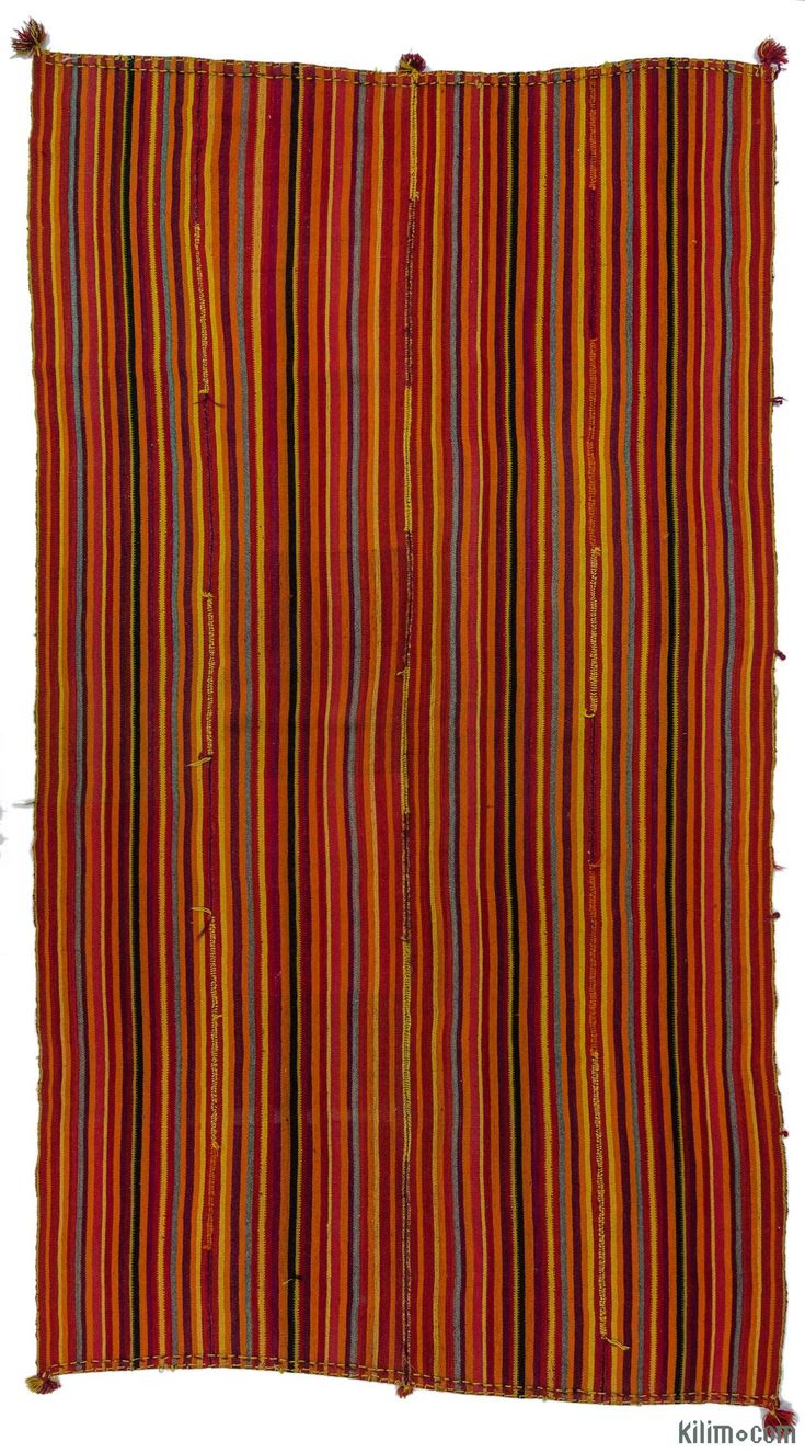 Vintage flatweave rug with four wings, handwoven in 1960's in Sivas, Turkey. These unique flatweaves were woven for multiple purposes such as table cloths, blankets, tent doors, horse covers. You may accent your room with this timeless flatweave as a sofa cover, bed cover, drapery as well as a rug on the floor. Rug pad recommended.