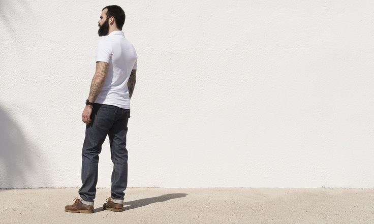 "Modèle ADN30-100 ""Overseas""  Toile Bleue/Grise Selvedge 100% coton13 Oz #denim #selvedge #jeans #madeinFrance  photo by Anais Boileau and model Thomas Berard for @ateliersdenimes"