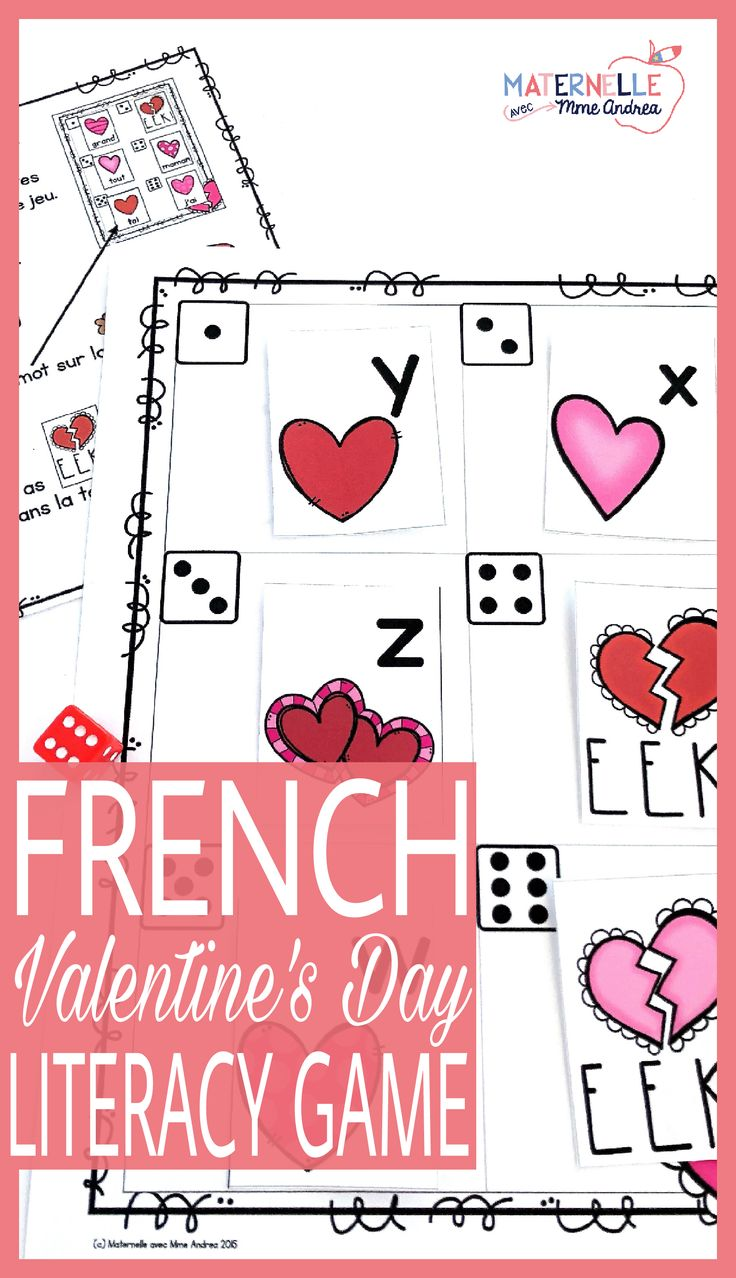 A super engaging, EDITABLE Valentine's Day game in French. Perfect for maternelle or first grade, students will practice their letter names, sounds and/or sight words with a partner. Makes a great literacy centre!