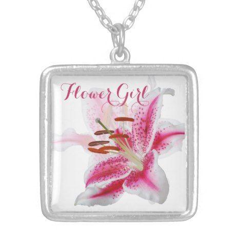 Stargazer Lily Wedding Party Necklace