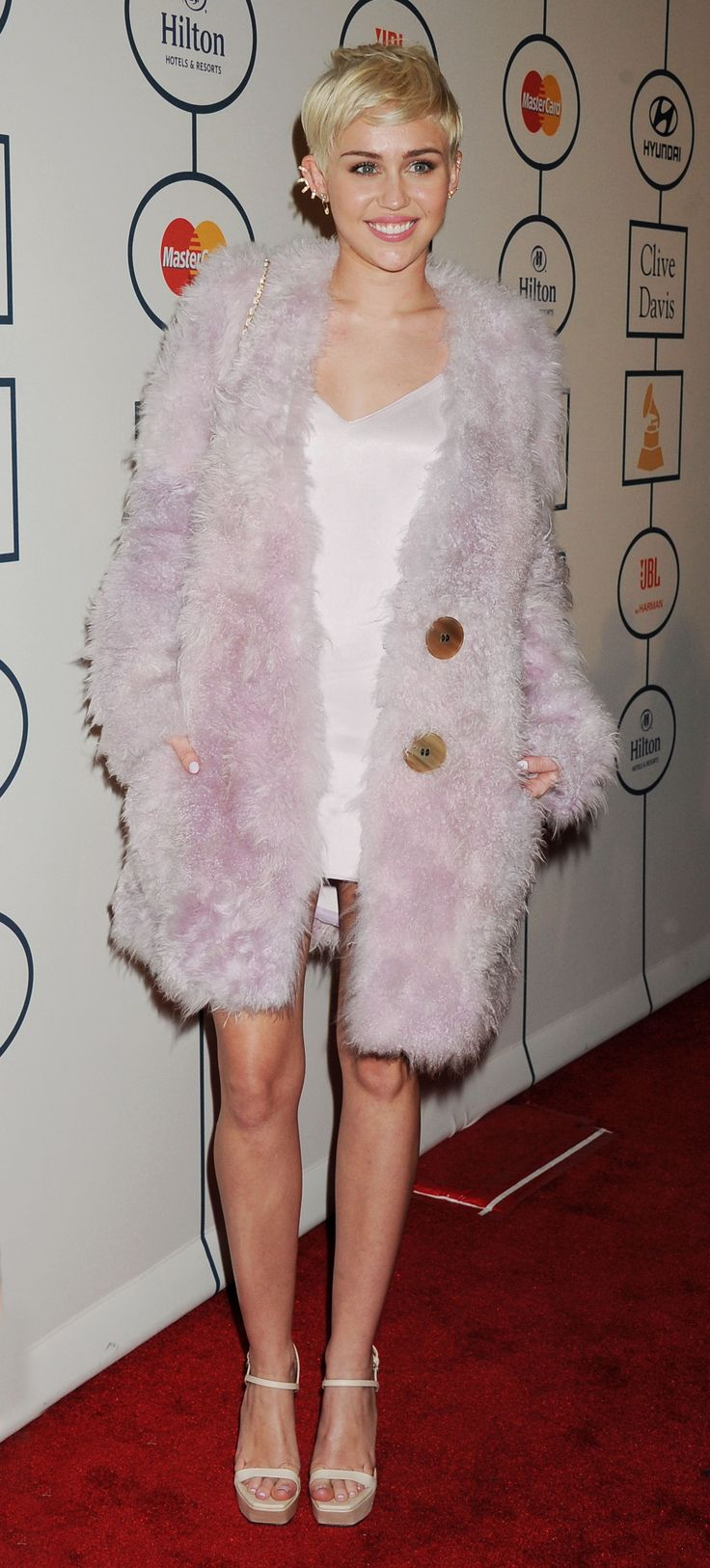 Miley Cyrus - 2014 Clive Davis pre-Grammy Gala
