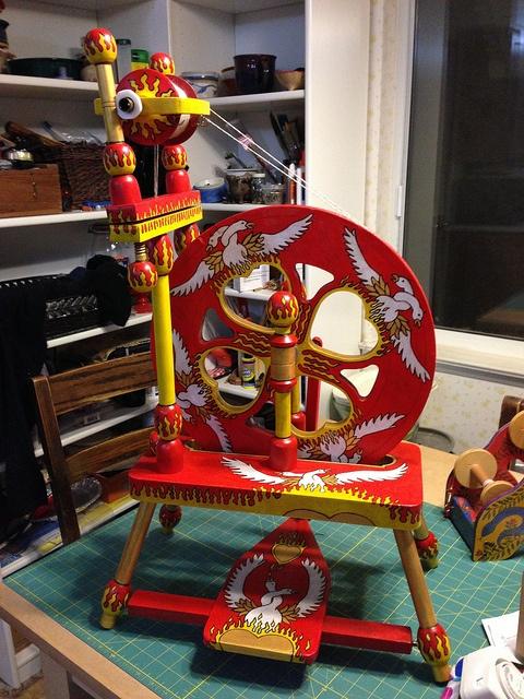 Firebird Spinning Wheel. How beautiful is that.