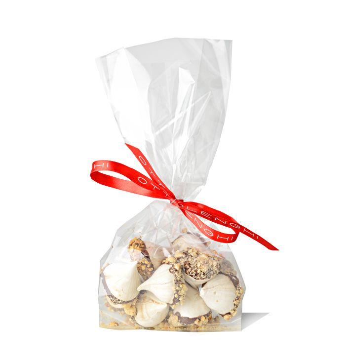Mocha and hazelnut woodland meringues £6.90 http://bit.ly/MHWMeringues  Bite-sized white meringue peaks brushed with dark chocolate and crushed hazelnuts: these are a great sweet treat to have around at Christmas time.