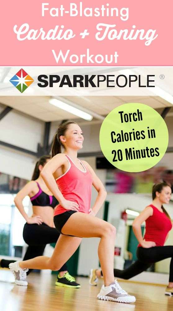 This efficient workout features cardio intervals plus dumbbell strength training for a head-to-toe challenge! | via @SparkPeople #fitness #exercise #video