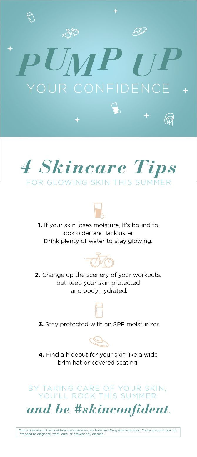 8 Summer Skincare Tips Infographic  Summer skin care tips, Summer
