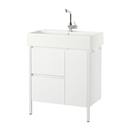 Yddingen Wash Stand With 2 Drawers 1 Door Ikea Avec Images Meuble Lavabo Salle De Bain Ikea Ikea