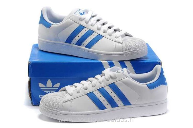 adidas superstar bandes bleues